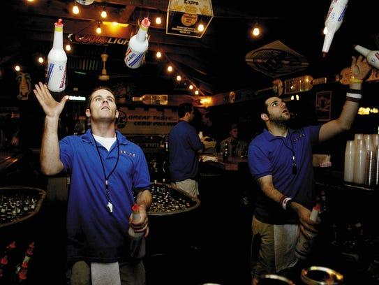 Bartenders put on a show at the old Kahunaville in