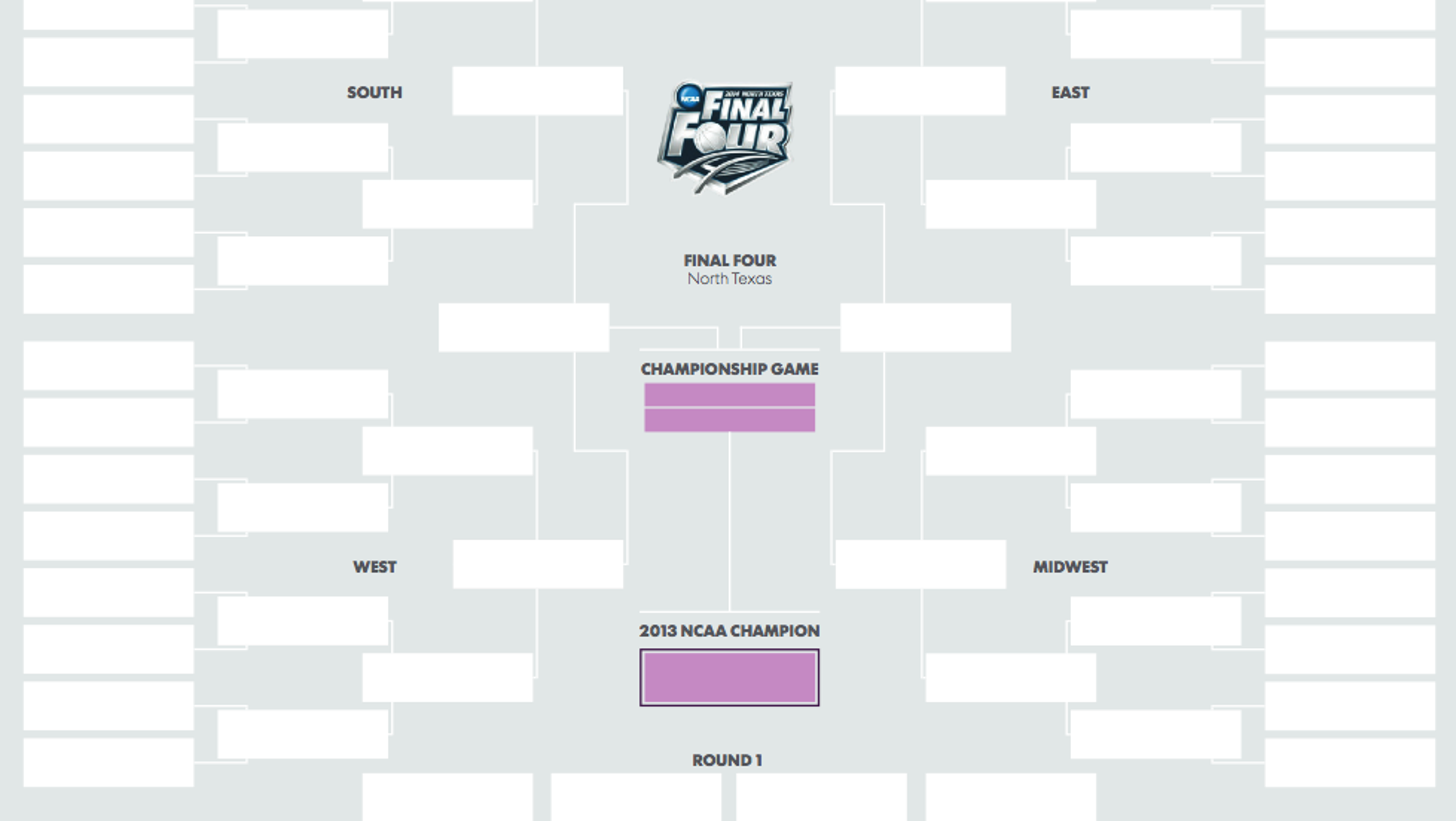 get printable ncaa tournament bracket here