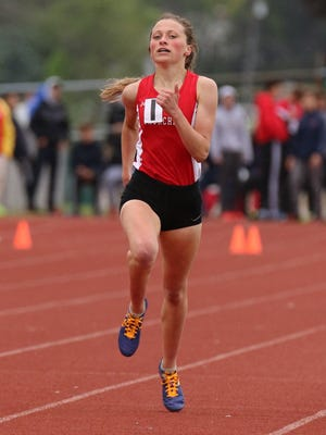 One of Livonia Churchill's top performers at regionals, senior Gabby Swider, closes out her championship in the mile run.
