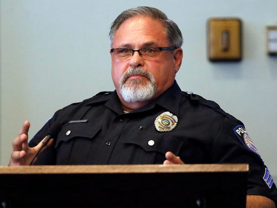 Ashland Police Department Sgt. Jim Cox testifies during