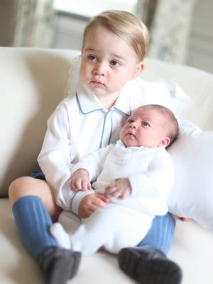 The royal babies, George and Charlotte, at Anmer Hall, Sandringham, in May 2015.