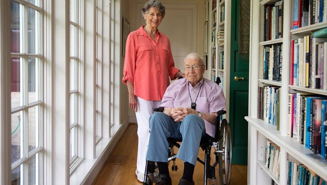 Cornelia and Bill Wolf,  parents of Gov. Tom Wolf, were pictured at their home in Mount Wolf on June 10, 2014.