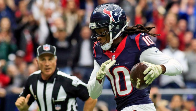 Texans WR DeAndre Hopkins has exceeded 1,200 receiving yards the past two seasons.