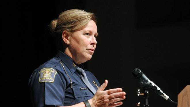 Michigan police director, Col. Kriste Kibbey Etue, in 2015.