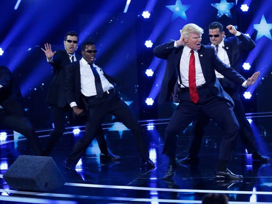 "The Singing Trump performs on ""America's Got Talent"" during the ""Judge's Cuts""  episode that aired Tuesday, July 19, 2017."