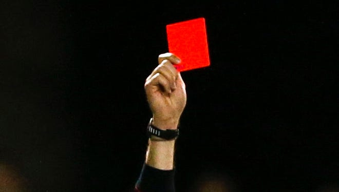 A red card gets issued.