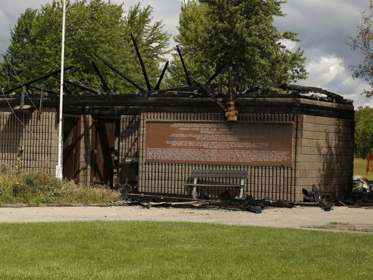 The Oshkosh Youth Soccer Club pavilion was destroyed by fire Friday, Sept. 1, 2017. It is a total loss. The club had all of their soccer equipment in the pavilion.