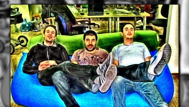 From left, Photomania CEO Ofir Yosef, chief product officer Adir Kol and chief technology officer Bar Ziony.