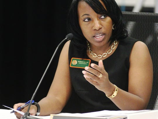 Florida A&M University trustee Kimberly Moore has been reappointed by the Board of Governors to FAMU's board.