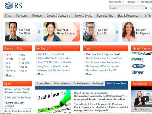 irs.gov-homepage
