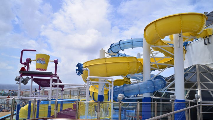 A new water park on Carnival Cruise Line's 2,974-passenger