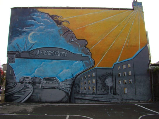 Fermin Mendoza's mural in Jersey City at a once abandoned