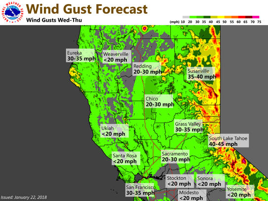 A winter storm will bring windy conditions to the North