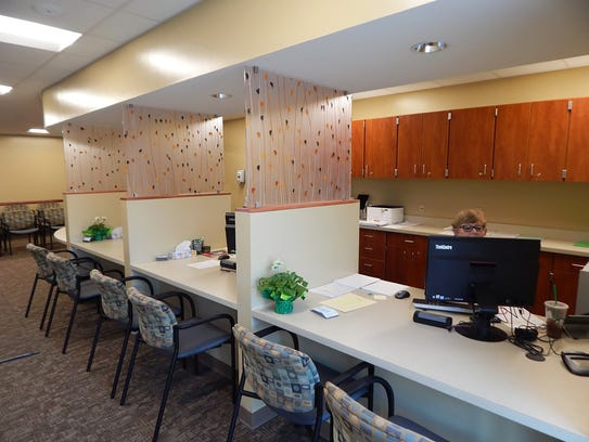 The reception area of the  new West Clermont school-based