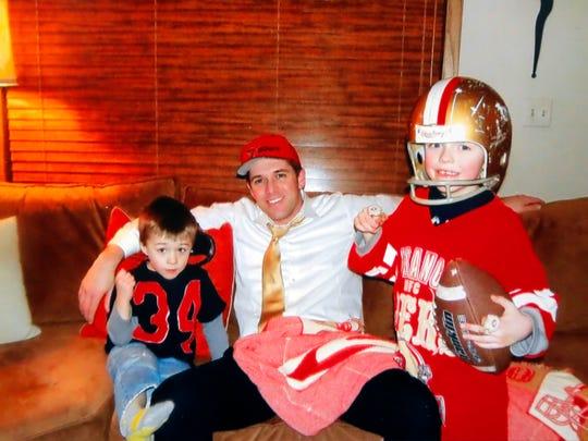 Alex Kuhn and children.