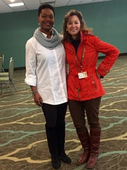 Deidrie Henry and Kris Wartelle at the Wyndham Garden Hotel, Jan.21, 2016.