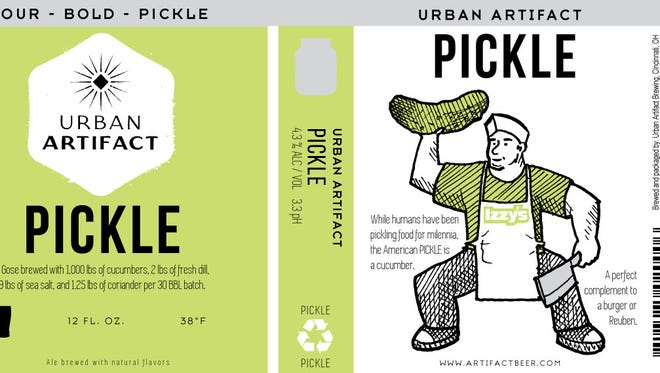 Urban Artifact partnered with Izzy's on Pickle Brew, a beer that will launch on July 14.