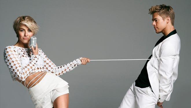 Julianne (left) and Derek Hough.