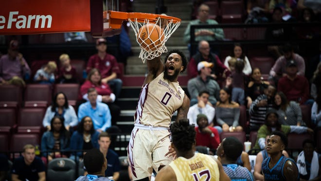 Florida State forward Phil Cofer finished Friday's game against the Citadel with 15 points on 7-of-9 shooting.
