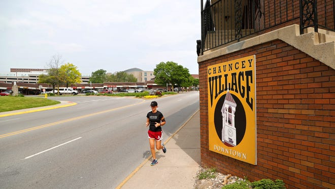 West Lafayette and Purdue University are betting on a renovated State Street, shown here in the Village area, as a way to improve the campus town feel of the city.