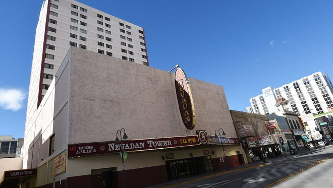 The Nevadan Tower is seen in Reno on Feb. 5, 2015.