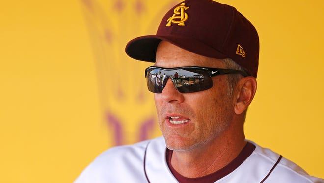 Arizona State baseball head coach Tracy Smith.