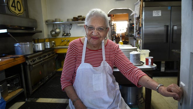 "In 2016: ""Mama"" Inez Casale Stempeck at Casale's Halfway Club: ""In the early days it was hard work. Dishes by hand and we just worked all the time. I'm very, very proud. I would recommend the ravioli because they're homemade from head to toe."""