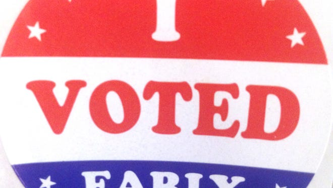 """An """"I voted early"""" sticker"""