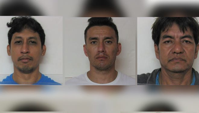 Five of six individuals arrested after a Dededo home was searched on Feb. 15.