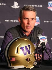 Washington head coach Chris Petersen talks about the