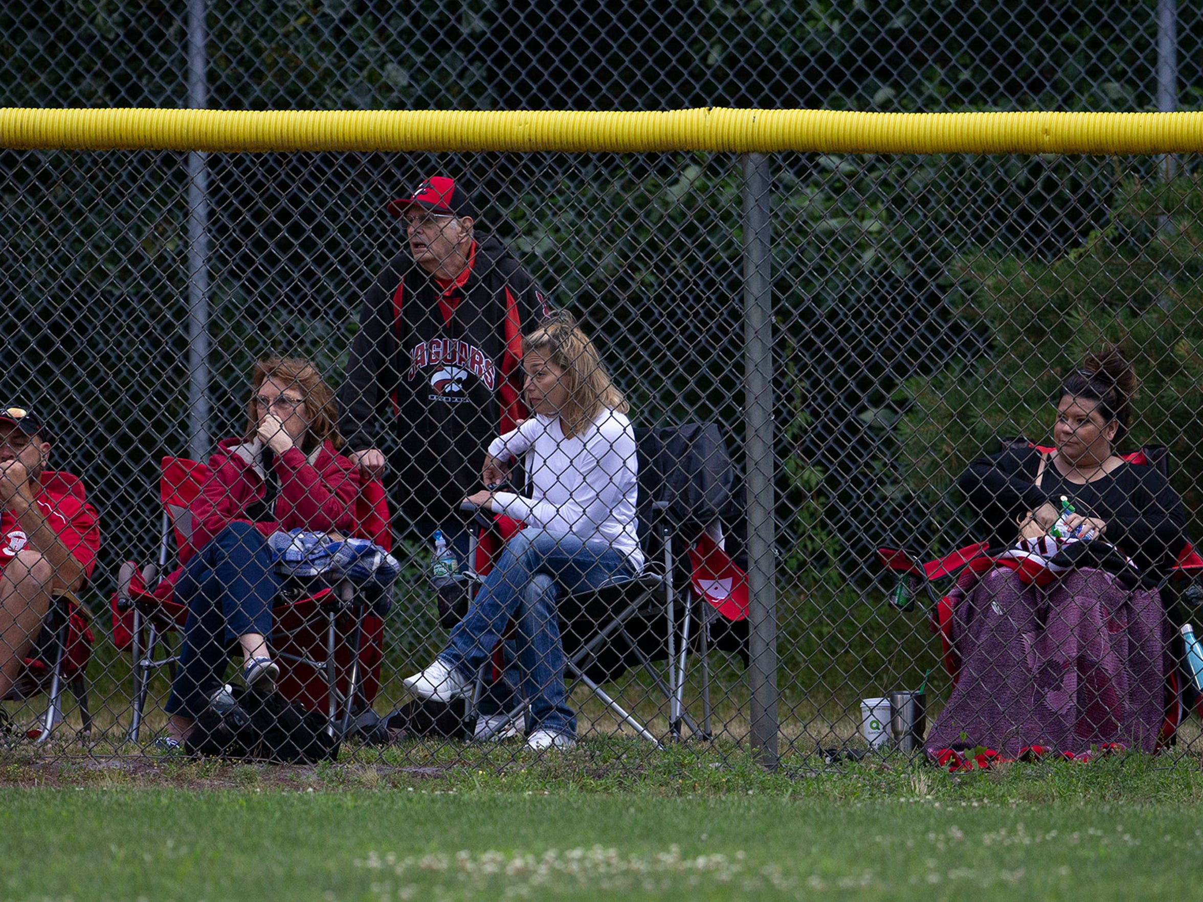 Parents and fans watch the action between Brick and Holbrook Little League teams in June 2018.