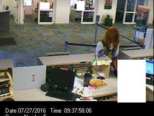 A suspected male bank robber at the M & T Bank on Haines