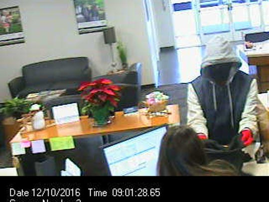 Hanover Police are searching for a man who they say robbed a bank in the borough Saturday morning. Photo courtesy of Hanover Borough Police.