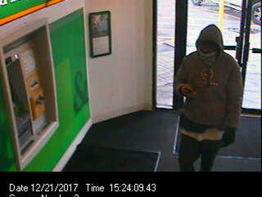 A photo of the suspect in Thursday's robbery.