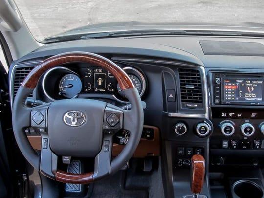 Toyota S Sequoia Suv Has Wood Grain Trim Photo By Mark Williams Cars