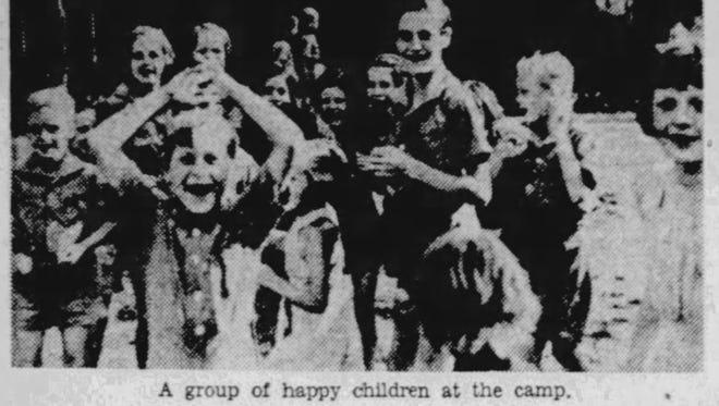 Children at Nutrition Camp, 1939.