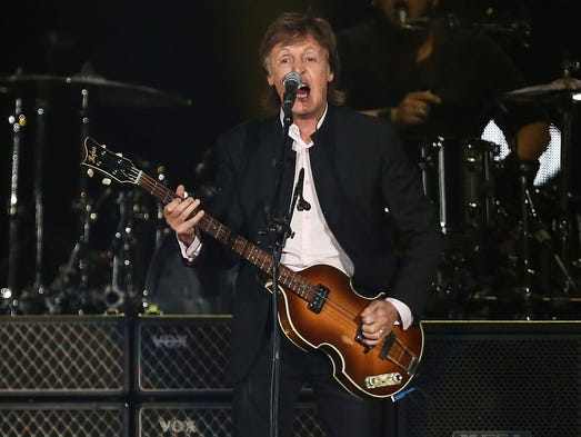 Paul McCartney performs as the day two headliner at