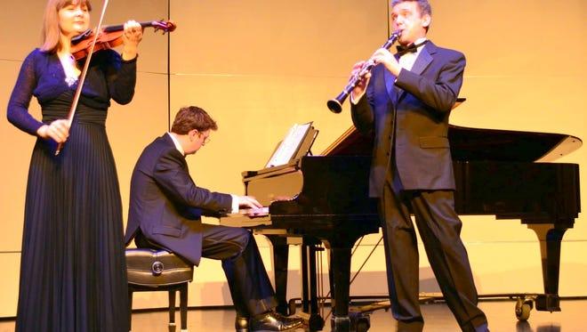 The Kat Trio (L-R Victoria Gorbich, Joseph Ross, Vladislav Gorbich) will perform at 7 p.m. on Tuesday, Feb. 14 at the WNMU Fine Arts Center Theater.