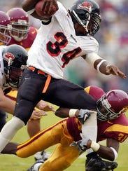 Steven Jackson ran for 1,690 yards in 2002, a single-season