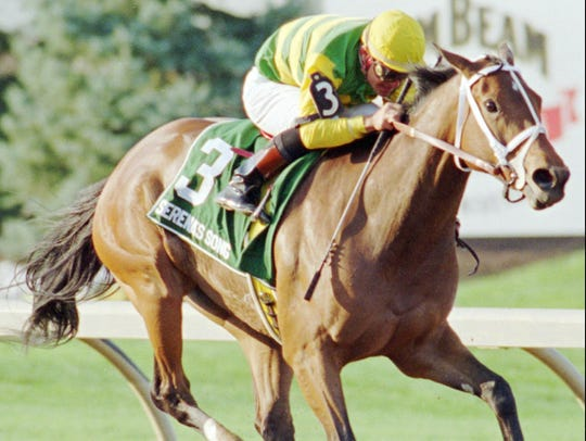 -Serena's Song became the first filly to win the Haskell