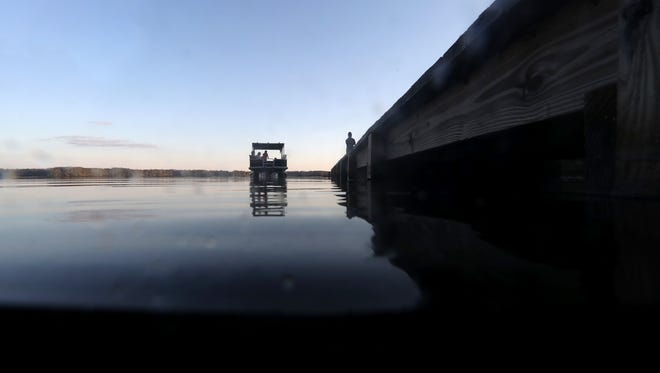 """FWC and Gadsden County Sheriff's Office are reporting that divers have yet to find any sign of Brogdon-Marr, who went missing after falling into the lake on Saturday, as search efforts were being stymied by Lake Talquin's """"zero visibility""""  under murky waters."""