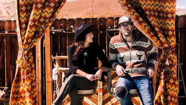 Gabriella Evaro and Chris unck at their home in Joshua