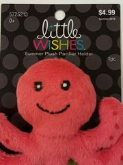 Hobby Lobby has issued a recall on the Little Wishes Summer Plush Pacifier Holder.