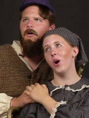 "Russell Daniels (Tevye) and Anna Wentlent (Golde) starred in the Summer Youth Musical Theater Workshop's production of ""Fiddler on the Roof"" in 2001 at the Tri-cities Opera Center on Clinton St. in Binghamton."