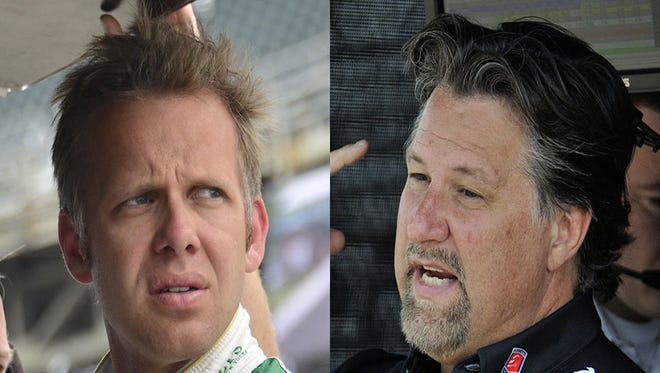 IndyCar team owners Ed Carpenter (left) and Michael Andretti.
