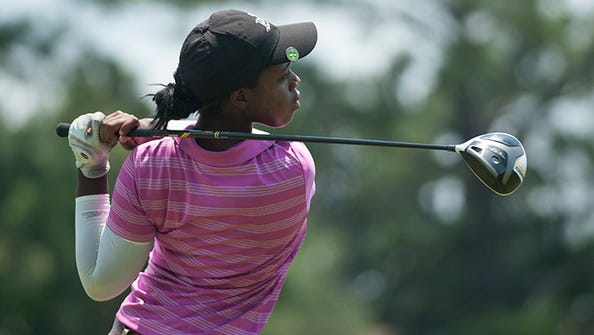 Washington High's Jade Sanders, shown competing in