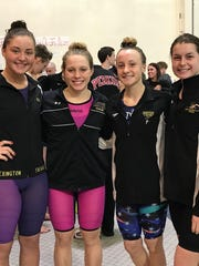 Lexington's district record-setting 200 medley relay team of Kelsi Brown, Alli McFarland, Sage Moore and Alivia Merkel is seeded No. 2 in the state meet.