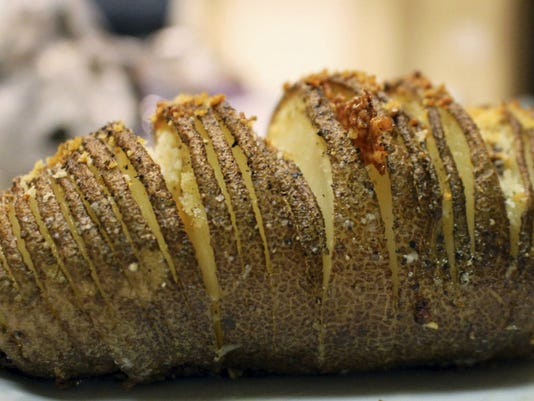 Crispy and delicious, the Hasselback potato makes for a beautiful presentation piece among friends or a delectable dish to eat alone.