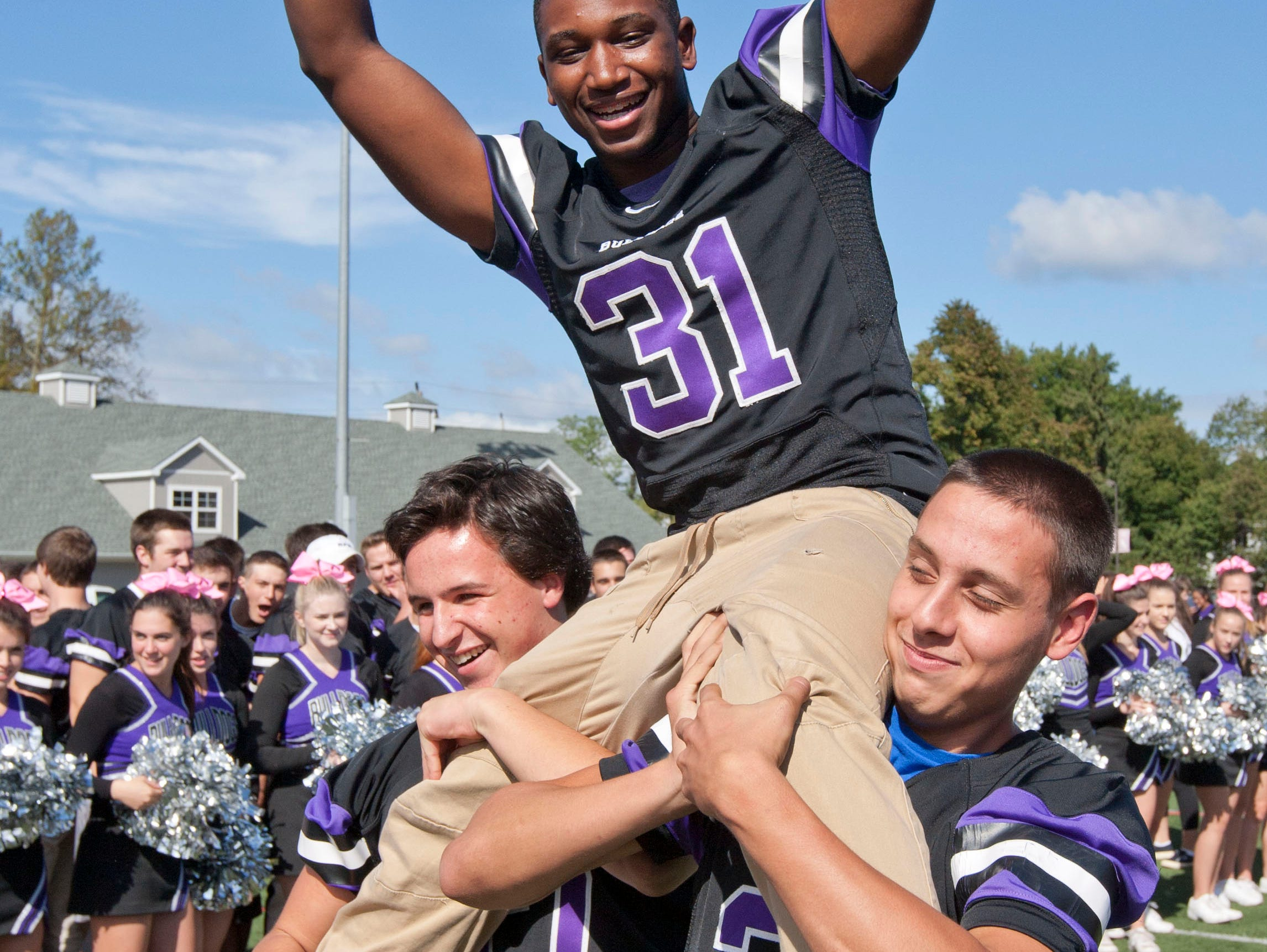 The Red Zone Road Show at Rumson HS in advance of the Rumson-Long Branch football game -October 5, 2015-Rumson, NJ.-Staff photographer/Bob Bielk/Asbury Park Press