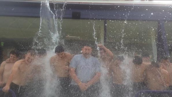 Mitchell's baseball team has taken the ALS Ice Bucket Challenge.